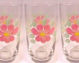 82a set of 5 peach blossom ice tea tumbler 12 oz drinking glass clear hand painted thumb155 crop