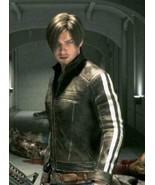Leon Kennedy Resident Evil Vendetta Black Leather Jacket - £46.53 GBP+