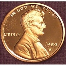 1989-S Deep Cameo Proof Lincoln Memorial Penny #0880 - $4.29