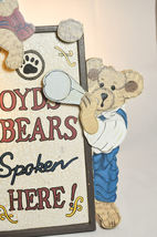 "Boyds Bears: Boyds Bears Spoken Here - Display Stand - # 654900 - 15"" x 8 1/2"" image 3"