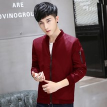 2018 New Fashion Men's Baseball  Black Jacket Autumn and Winter Youth Sl... - $40.80