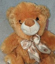 Woody Toys 76229S 10 Inch Burnt Orange Bear With A Paw Print Bow image 1
