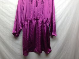 Labor of Love Purple Long Sleeve Maternity Blouse Sz LG image 3