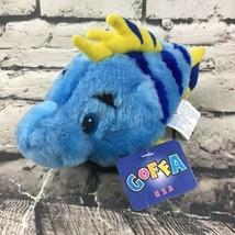 "GOFFA Bean Bag Friends Fish Plush Blue Yellow Tropical Stuffed Animal 7""... - $14.84"