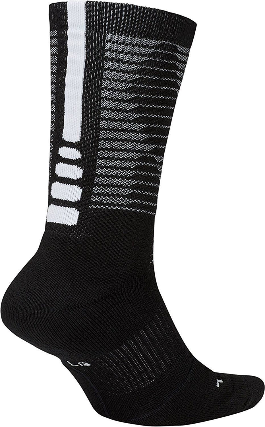 Nike MEN'S  Dri-Fit Elite Disrupter 1.5 Cushioned Crew Socks-Black  NWT image 2