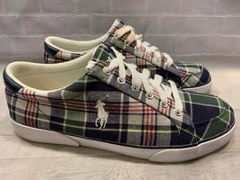 POLO Ralph Lauren Madras Plaid Sneakers Men's Size 11 D - $26.72