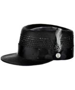 Men's Bruno Capelo Telescope Baseball Legionnaire Vented Hat/Cap Black - $49.99