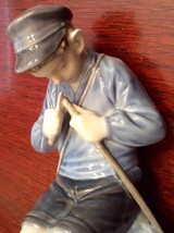 Royal Copenhagen Boy Whittling Figurine # 905 - Vintage from 1962 - $61.79