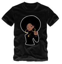 Afrocentric Black Panther Soul Sister T-Shirt Angela Davis Huey Malcolm ... - $18.99+