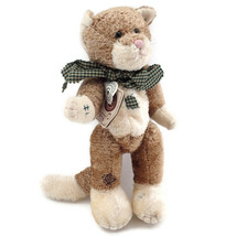 """Vtg Scratches P Whiskerpuss Cat Plush Toy Jointed Arms Legs 10"""" JB Bean ... - $11.85"""