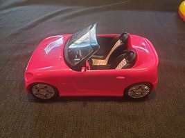 2009 Barbie Convertible Sports Car Pink Glam Zebra Print Seats Mattel - $19.99
