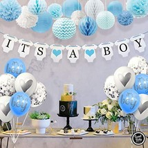 Sweet Baby Co. Baby Shower Decorations For Boy With It's A Boy Banner, P... - $28.53