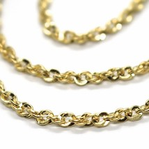 18K YELLOW GOLD ROPE CHAIN, 17.7 INCHES BRAIDED INFINITE FACETED ALTERNATE LINK image 2