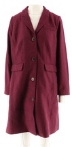 Isaac Mizrahi Herringbone Fully Lined With Coat Deep Burgundy 14 NEW A25... - $101.31