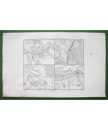 1859 ANTIQUE MAP - Poland Environs of Towns of Czarnowo Pultusk Golymin ... - $16.20