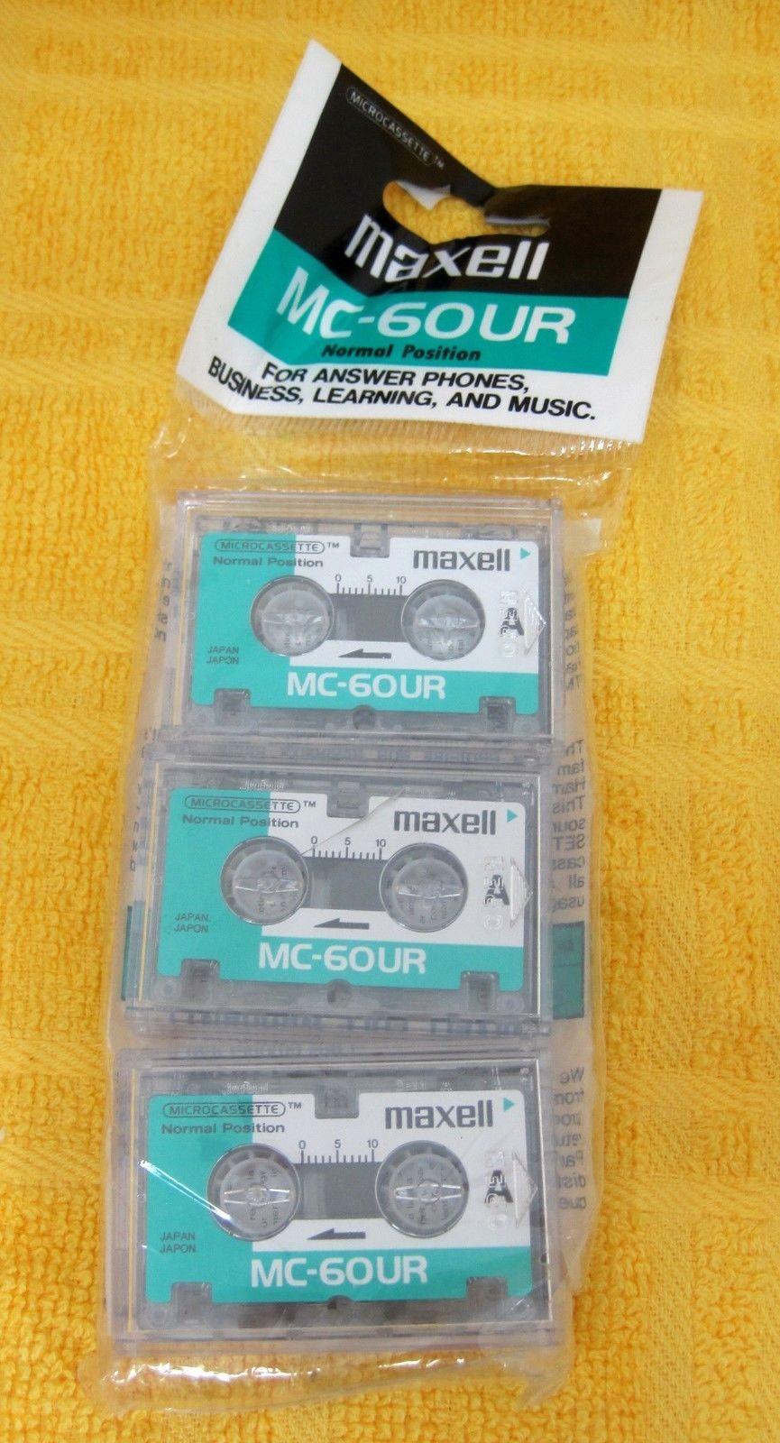 Primary image for New in Pack Maxwell MC 6our MIP Micro Cassette MIP New Old Stock Pack of 3 T95