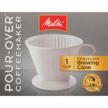 Melitta #2 Porcelain Single-Cup Pour Over Coffee Brewer, White - $22.76