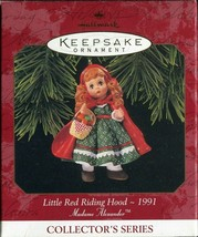 1991 - New in Box - Hallmark Christmas Keepsake Ornament Little Red Ridi... - $4.89