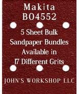 Makita BO4552 - 1/4 Sheet - 17 Grits - No-Slip - 5 Sandpaper Bulk Bundles - $7.14