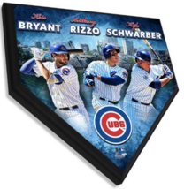 """Anthony Rizzo, Kris Bryant, & Kyle Schwarber Cubs 11.5""""x11.5"""" Home Plate... - $40.95"""