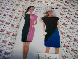 """11 1/2""""Fashion Doll Wardrobe: Knitting with Style from Simplicity 0439 - $7.00"""