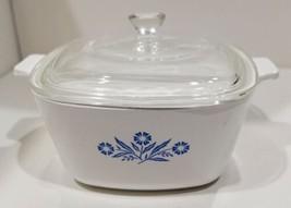 Vintage 1966-1969 Corning Ware Blue Cornflower Covered Casserole (P-1 3/... - $71.25