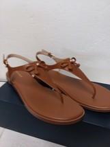 Cole Haan Women's FINDRA Leather Thong Sandal II Flat - Tan 10 B - $67.05