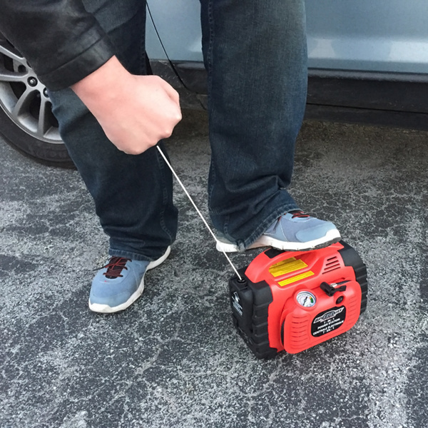 Portable Generator With Jumper Cables : Battery charger jumper cable power station emergency
