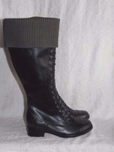 Cole Haan Nike Air WHITLEY CHOOSE SIZE Black Leather Knee High Pull Up B... - $149.99