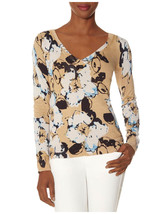 The Limited Floral Print V-neck Sweater, size L, NWT - $40.00