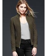 Gap Mockneck cable knit jacket, green, size XL, NWT - $60.00