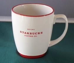Starbucks White With Red Trim 22 Oz Coffee Mug VGC - $16.00