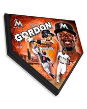 "Dee Gordon Miami Marlins 11.5"" x 11.5"" Home Plate Plaque  - $40.95"
