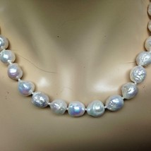 Beautiful, Real Iridescent White Pearls, 16in Choker-Necklace - $75.95
