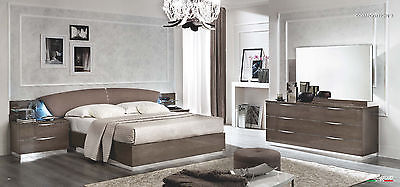 ESF Platinum Bedroom Set Queen 5 Piece Bed Modern Contemporary Made in Italy