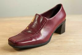 Franco Sarto 7 Wide Red Loafer Pumps Women's Shoe - $26.00