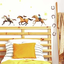 Roommates Riding Free Peel And Stick Wall Decals , Orange, Brown, Green - Rmk412 - $27.99