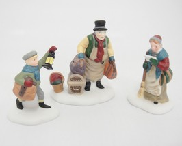 Dept 56 Heritage Village Come Into the Inn Set of 3 Porcelain Figurines 5560-3 - $12.86