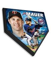 """Joe Mauer Minnesota Twins 11.5"""" x 11.5"""" Home Plate Plaque  - $40.95"""