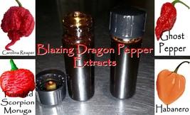 Organic Pepper Extract: Carolina Reaper, Moruga Scorpion, Ghost Pepper, ... - $5.75+