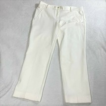 Ann Klein Women's Slim Ankle Off White Ivory Stretch Pant Size 16 NEW - $39.60