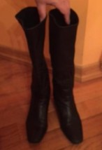 VTG COLE HAAN Black Leather Tall  Boots SZ 8B - $78.21