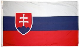 Slovakia - 4'X6' Nylon Flag - $91.20
