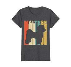 Vintage Style Maltese Silhouette T-Shirt - $19.99+