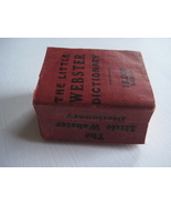 "Antique ""The Little Webster Dictionary""  Miniat... - $24.30"