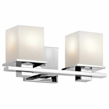 Kichler 45150CH Tully 2-Light Bath Wall Mount in Chrome - $98.01