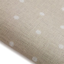 French Polka Dot Neutral 32ct linen 9x17 cross stitch fabric Fabric Flair - $10.20