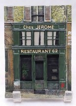 Paris st Jerome Restaurant 62 Resin collectible Wall Plaques Chiu Tak Ha... - $19.84