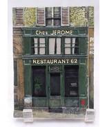Paris st Jerome Restaurant 62 Resin collectible Wall Plaques Chiu Tak Ha... - $7.99