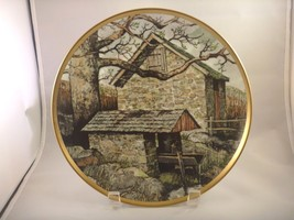 Vintage plate by Eric Sloane, The American Countryside, Spring house 24K... - $10.84